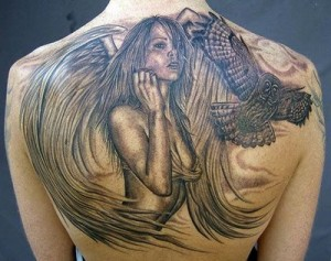 Angel Tattoos For Women 33 300x237 Angel Tattoos For Women   How Angel tattoo templates that you want a great view