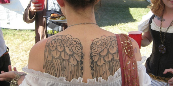 If you have a tattoo of angel wings | Design WD