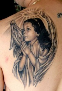 all about angel tattoos 5 204x300 All About Tattoos of Angels