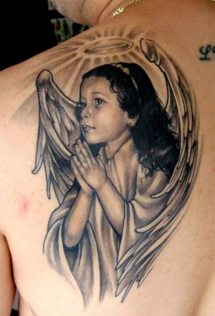 angel wing tattoo designs on all about angel tattoos 5 204x300 All About Tattoos of Angels