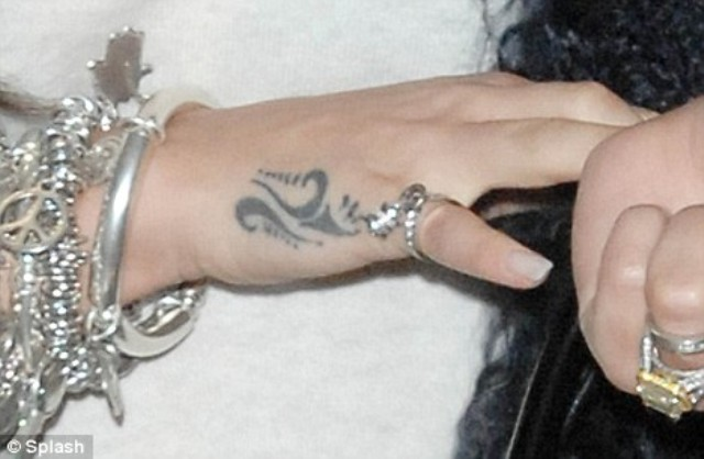 Cheryl Cole Hand Tattoo